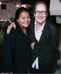 "On the set of ""August: Osage County"" with Meryl Streep in 2012."